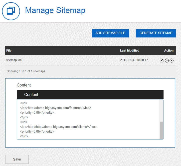 Xml Sitemap Priority: SEO Tools Added To Big Easy Media Library Software » Big